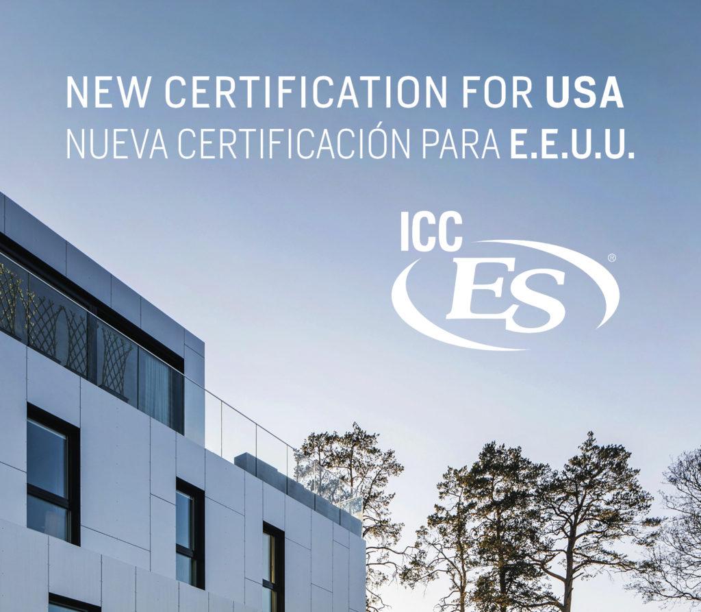 Nueva certificación STACBOND ICC AC-25