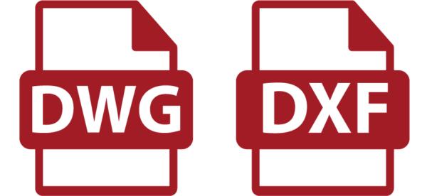Iconos de archivo DWG y DXF