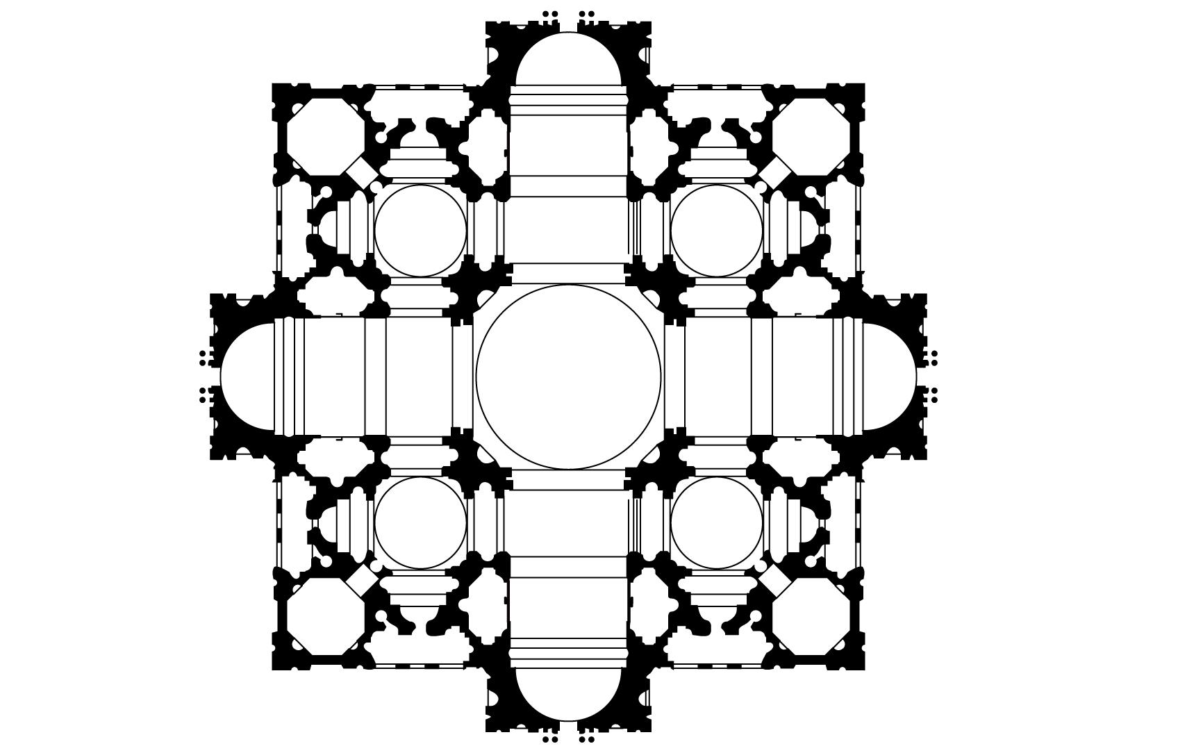 planta basílica de San Pedro