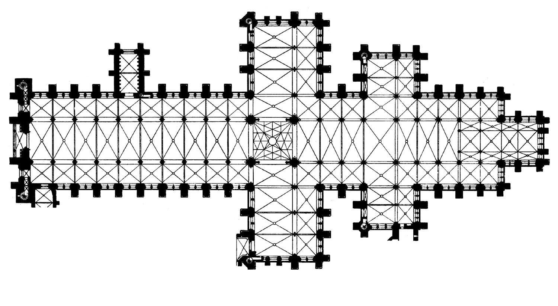 planta de la catedral de Salisbury