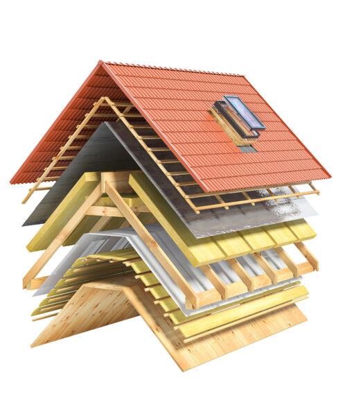 Aislante térmico - Capas de un tejado
