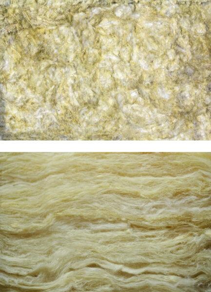 Lanas minerales de roca y vidrio como aislante térmico