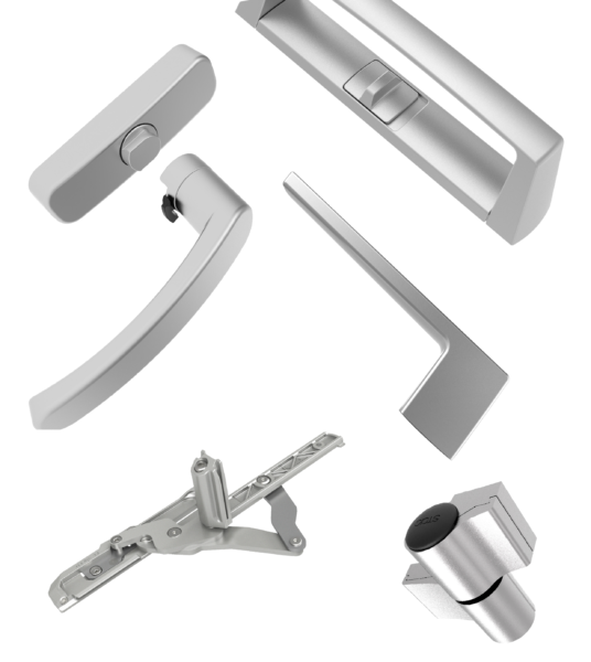 partes of a window - hardware