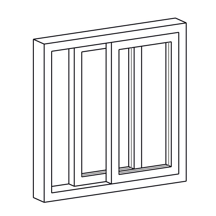 horizontal slider window