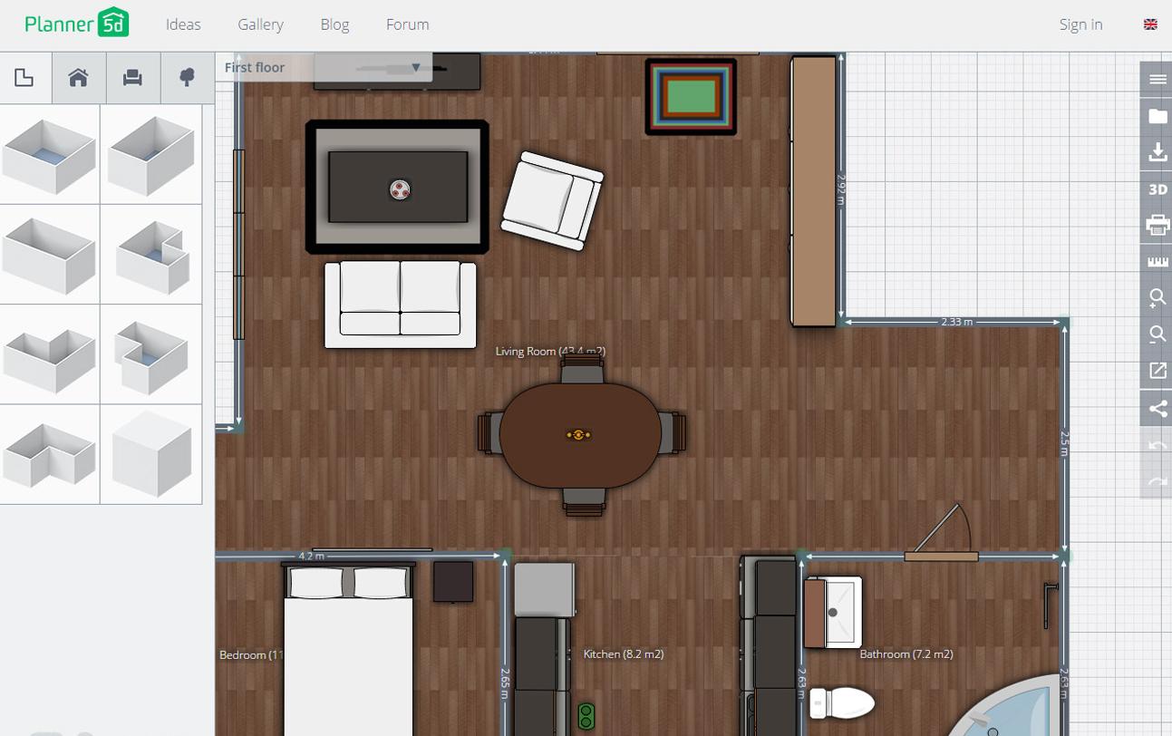programas para hacer planos planner 5D app