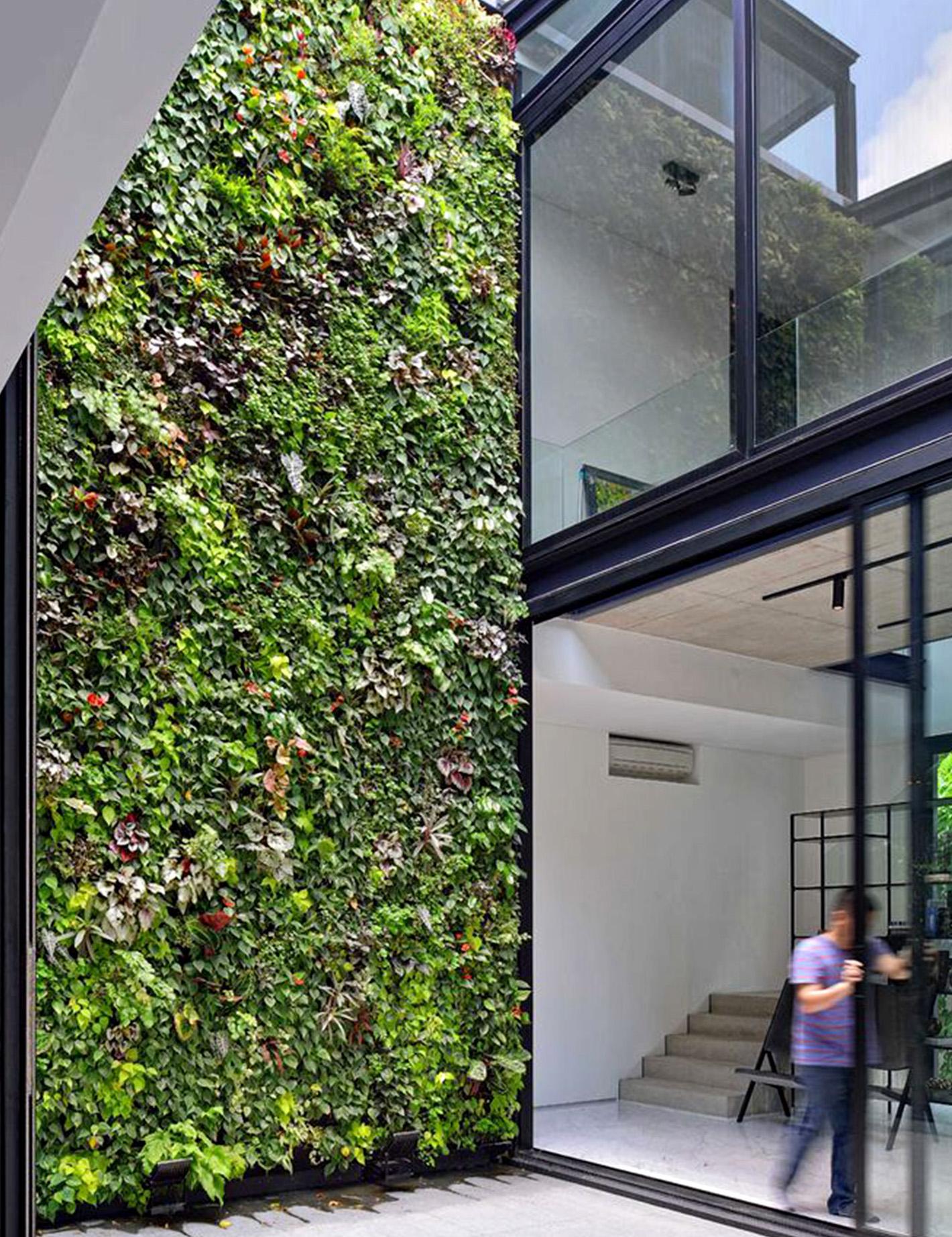 casas autosuficientes, jardín vertical